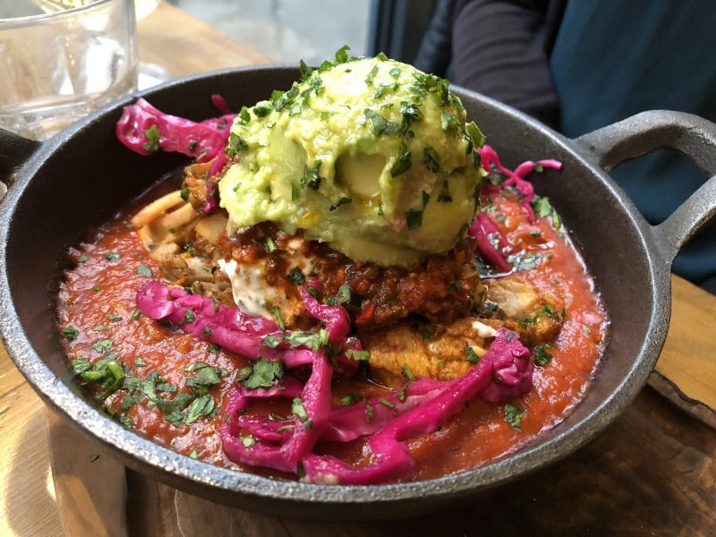 Deconstructed pan kebabs with shakshouka at Megan's on the Green