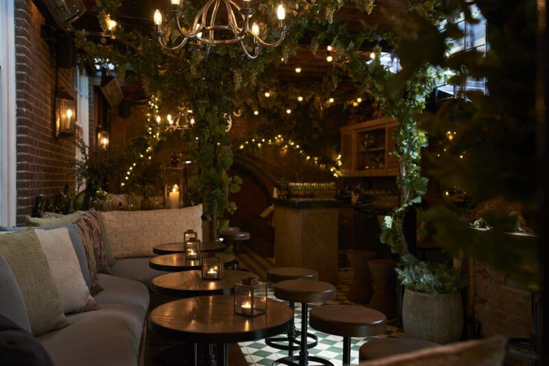 G 39 vine gin 39 s two month takeover of dalloway terrace at the for Dalloway terrace hotel
