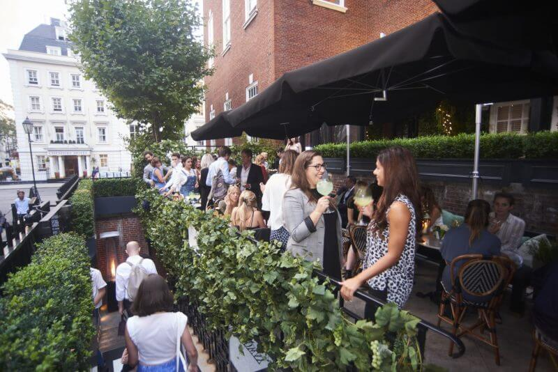G 39 vine gin 39 s two month takeover of dalloway terrace at the for Bloomsbury hotel terrace