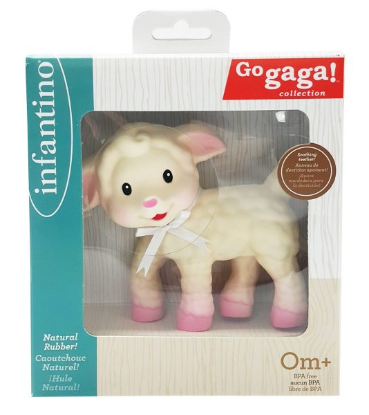 The luxuria lifestyle easter gift guide alternative treats for this all natural rubber squueze and teethe lamb from infantino is perfect for babies this easter who love to chew away shes easy to hold and will squeak negle Images