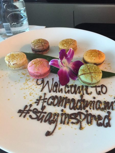 Welcome Macaroons at Conrad Miami