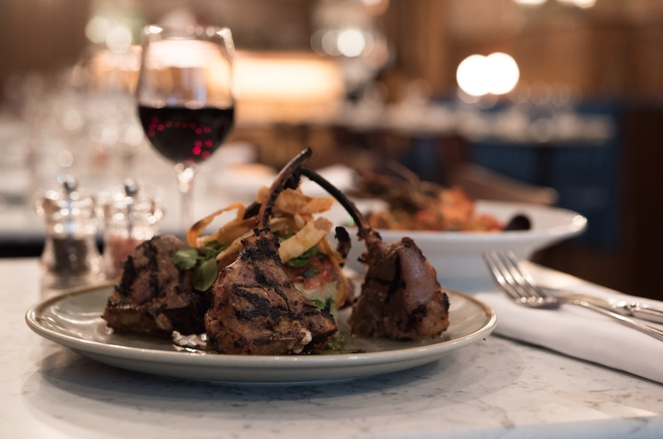 Lamb Chops and Red Wine at 40 Dean Street