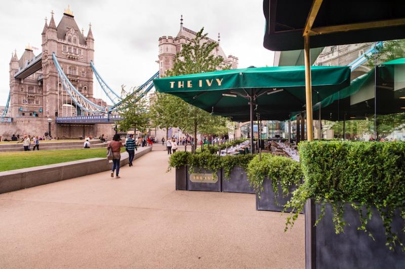 The Ivy Tower Bridge Restaurant Exterior